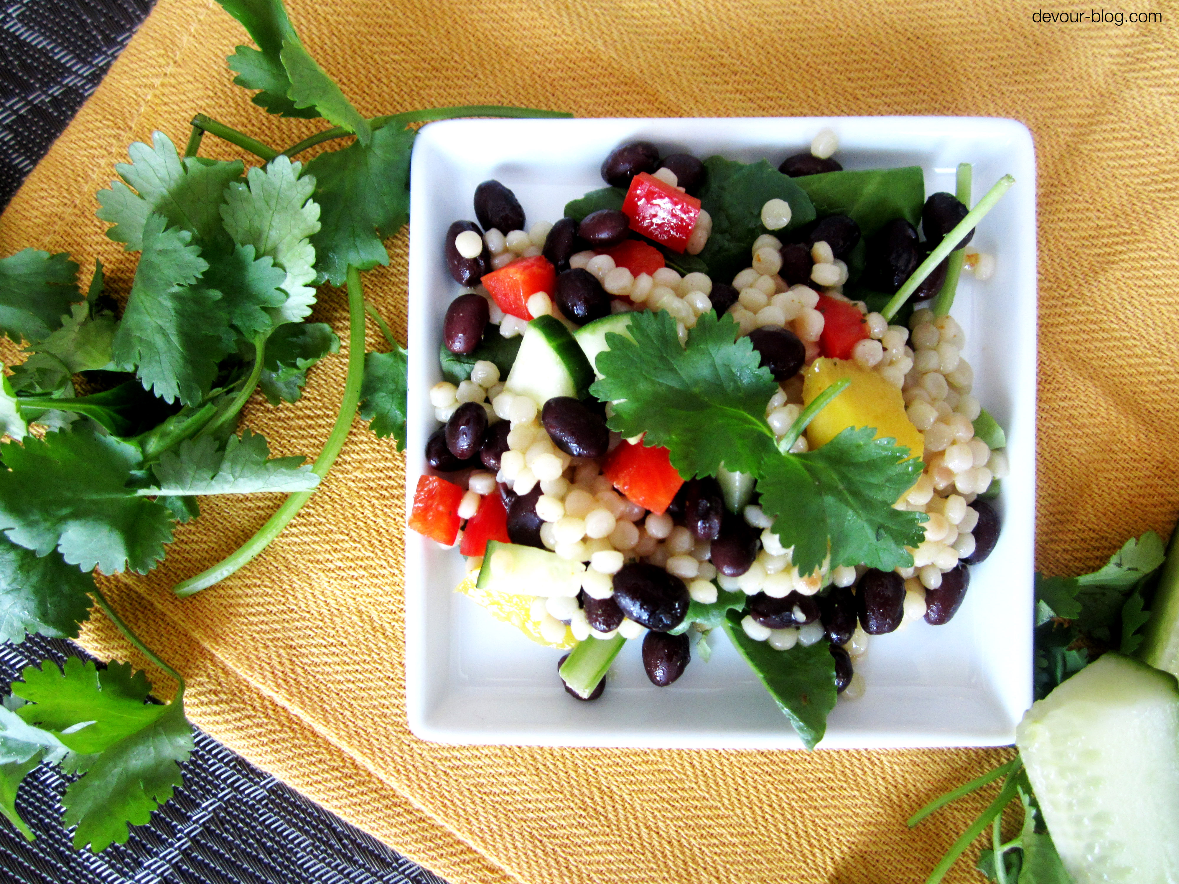 """Curried Couscous Salad + """"In Defense of Food"""""""