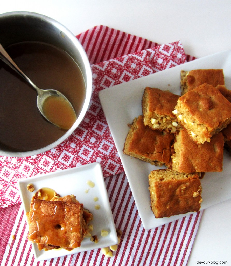 Maple Butter Bourbon Blondies