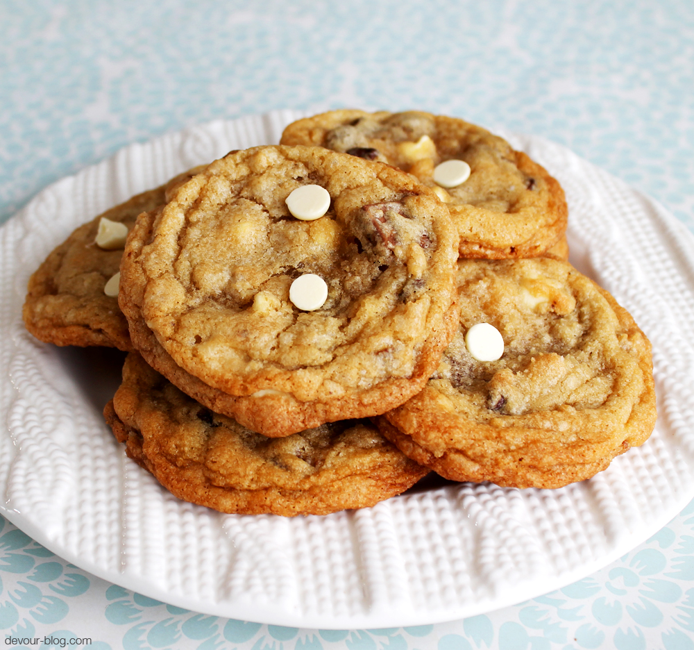 Triple Chocolate Chunk Cookies  |  Devour