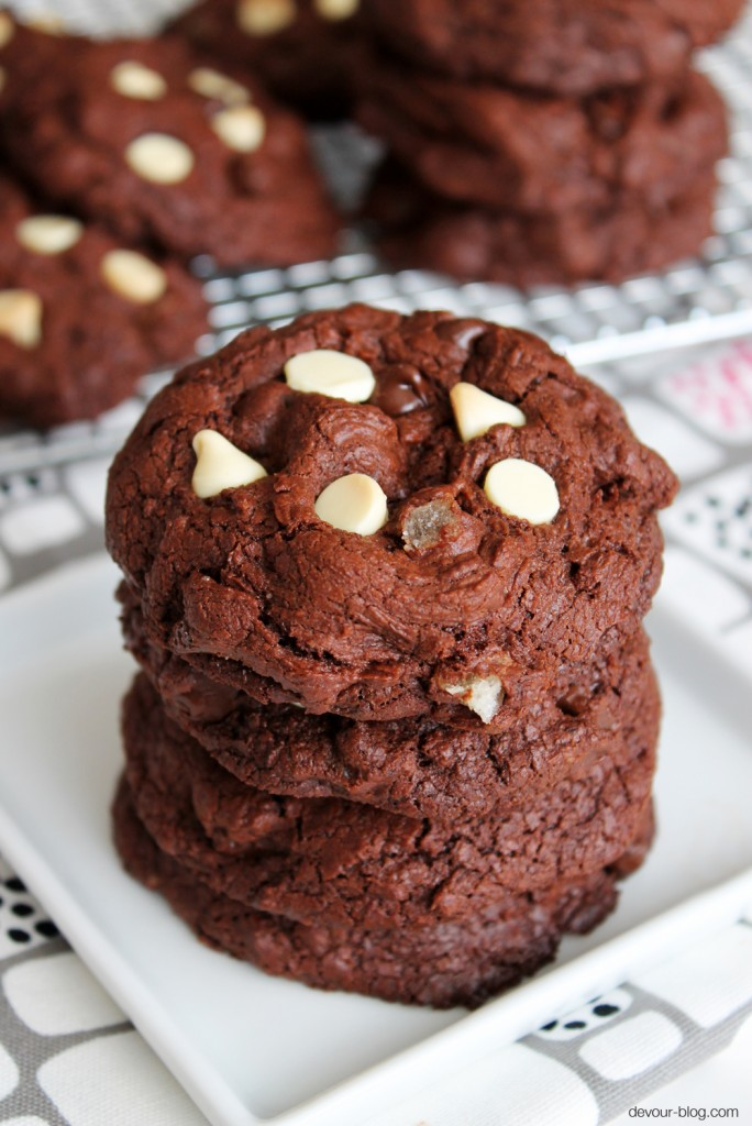 Double Chocolate Ginger Cookies. devour-blog.com