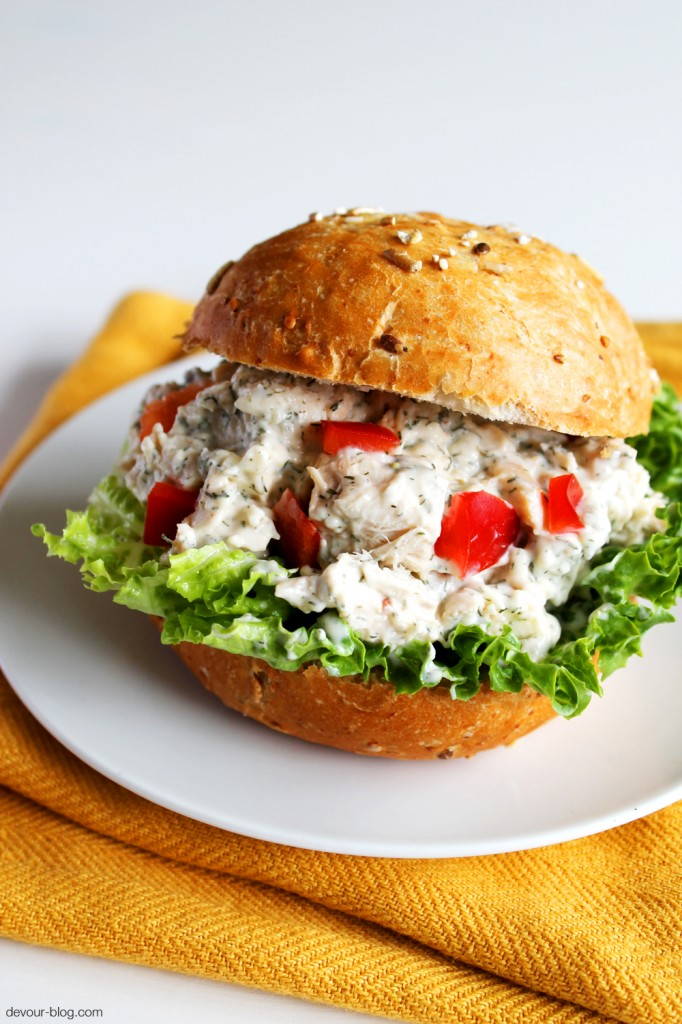 Feta Dill Chicken Salad. devour-blog.com