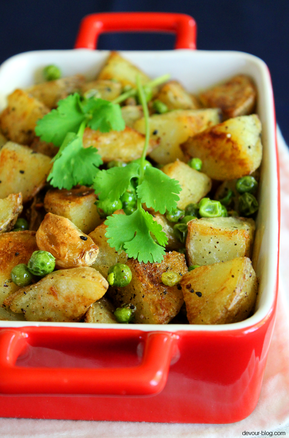 Potatoes with Peas. devour-blog.com