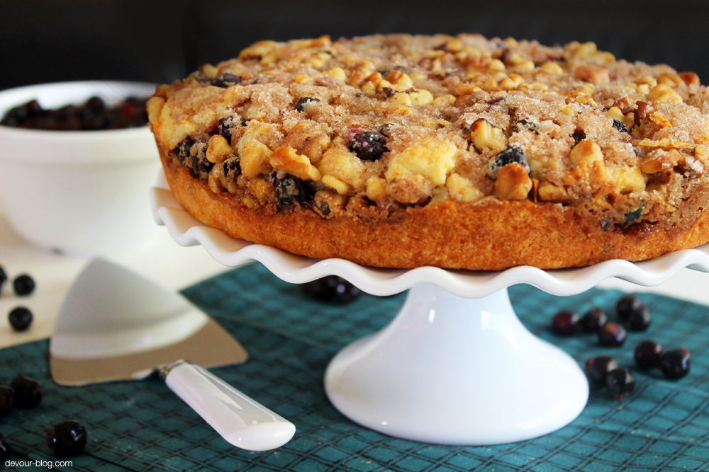 Saskatoon Berry Coffee Cake. devour-blog.com
