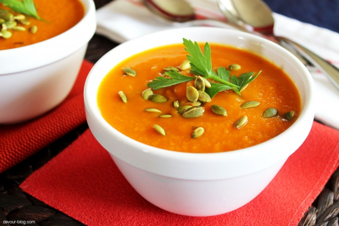 Pumpkin and Yellow Pepper Soup