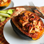 Apple Walnut Stuffed Acorn Squash. devour-blog.com