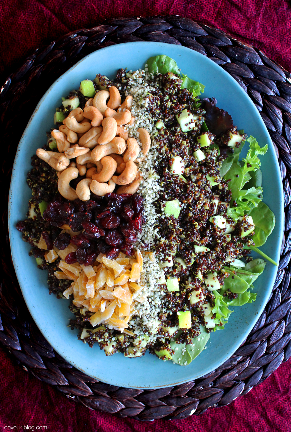 Curried Quinoa Salad with Dried Fruit and Cashews. devour-blog.com