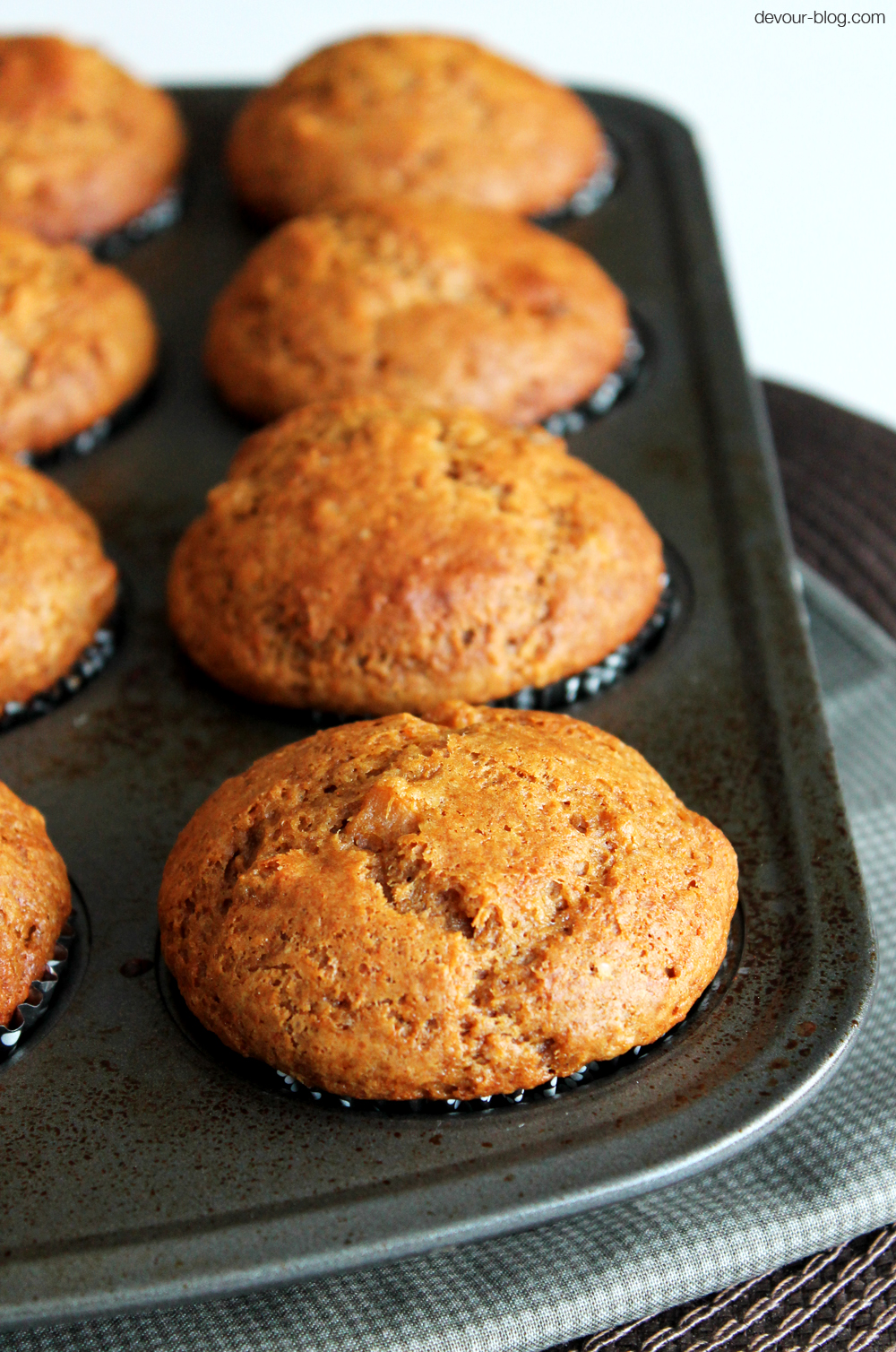 Sweet Potato Ginger Muffins. devour-blog.com