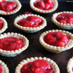 Strawberry Rhubarb Custard Tarts. devour-blog.com