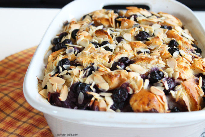Blueberry Cheesecake Bread Pudding