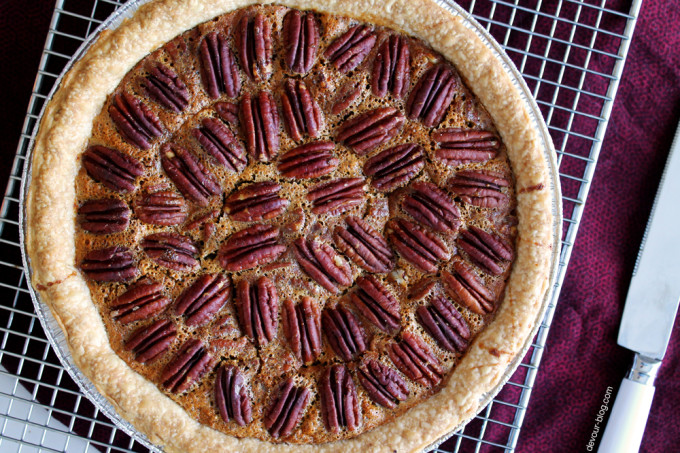 Pecan Pie with Vanilla Bourbon Whipped Cream